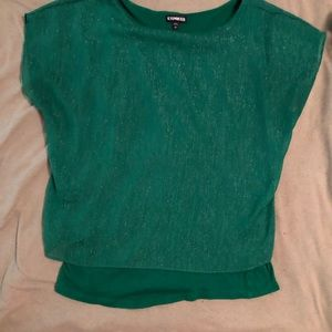 Express Emerald 2 Top in 1 Top. Love The Sparkle!!